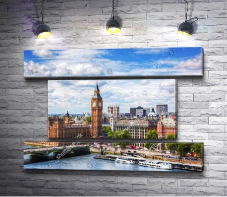 Панорамный вид на Вестминстерский дворец, Лондон