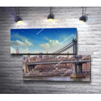 Вид на Манхэттенский мост, Нью-Йорк