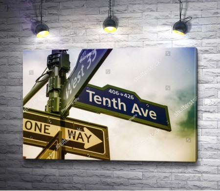 Указательный знак на улице Брайтон-Бич, Нью-Йорк