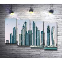 Обзорный вид на Дубай Марина, ОАЭ