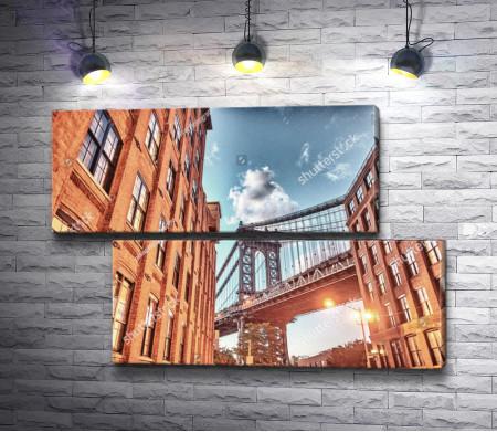 Бруклинский мост в лучах солнца