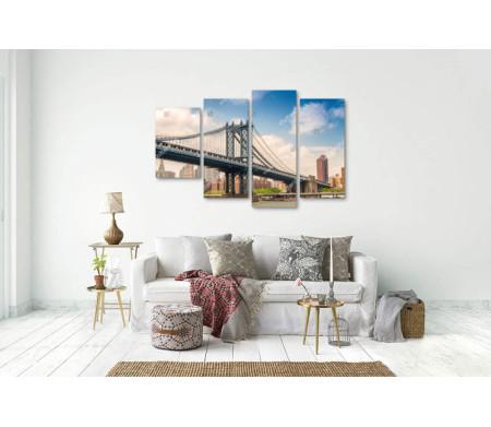 Манхэттенский мост в Нью-Йорке