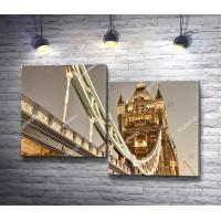 Знаменитый Тауэрский мост в огнях, Лондон