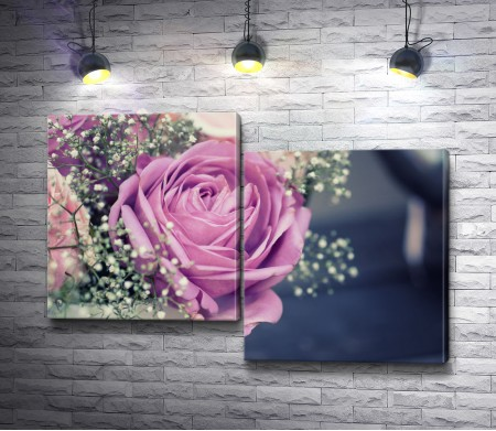 Нежный свадебный букет из роз