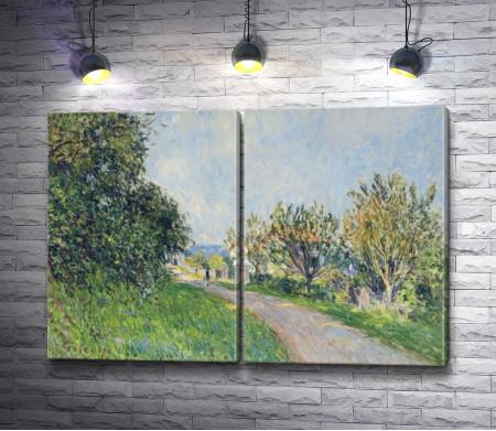 Альфред Сислей- Дорога и деревья
