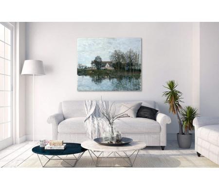 Альфред Сислей- Дом на берегу реки