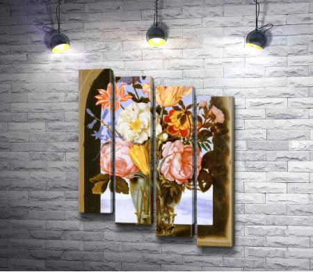 Амброзиус Босхарт - Букет цветов под аркой