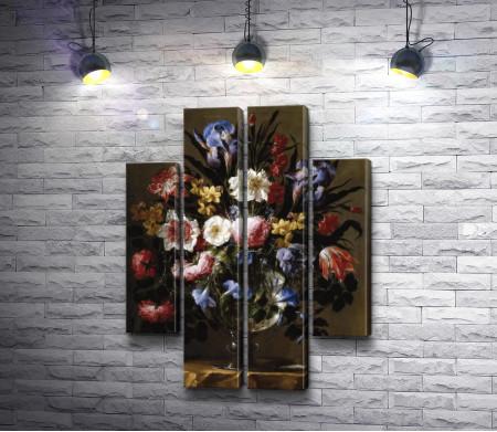 "Хуан Де Арельяно ""Натюрморт. Цветы в вазе"""