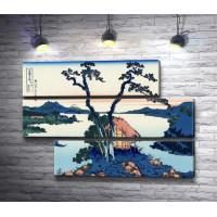 """Кацусика Хокусай """"Озеро Сува в провинции Синано"""""""