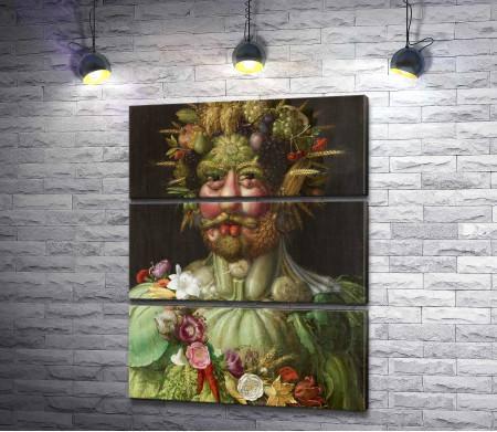 """Джузеппе Арчимбольдо """"Портрет императора Рудольфа II в образе Вертумна"""""""