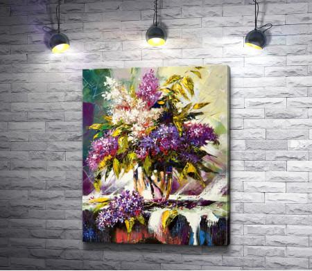 Игорь Левашов - Цветущая сирень в вазе
