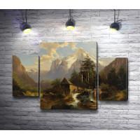 """Йозеф Тома """"Mountainous Landscape with mill"""" (Горный пейзаж с мельницей)"""