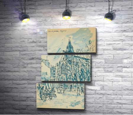 "Константин Коровин ""Paris. Eglise Saint Medard Quartier"""