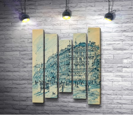 "Константин Коровин ""Paris. Gare d'Orsay"""