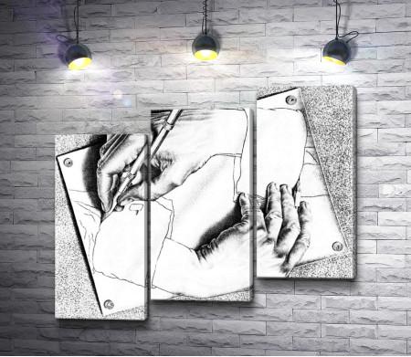 "Мауриц Корнелис Эшер ""Drawing Hands"" (Рисующие руки)"