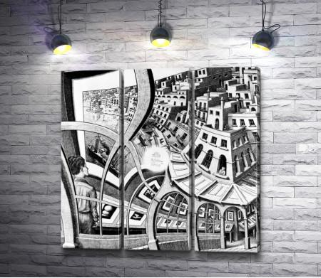 "Мауриц Корнелис Эшер ""Exhibition of prints"" (Выставка гравюр)"