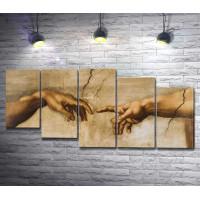 "Микеланджело Буонарроти ""The Creation of Adam"" (Сотворение Адама)"