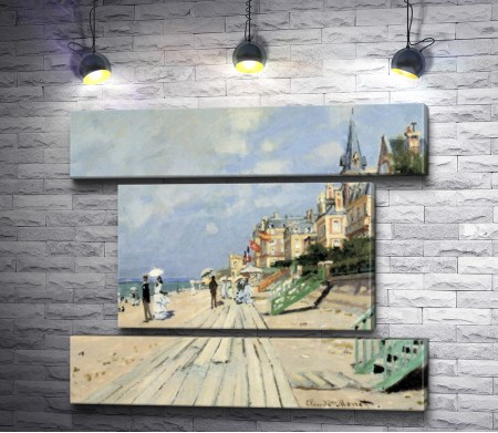 "Оскар Клод Моне ""The Boardwalk on the Beach at Trouville"""