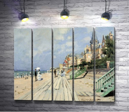 """Оскар Клод Моне """"The Boardwalk on the Beach at Trouville"""""""