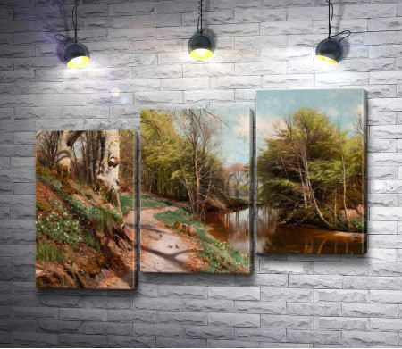 """Петер Морк Монстед """"Spring landscape with water"""""""