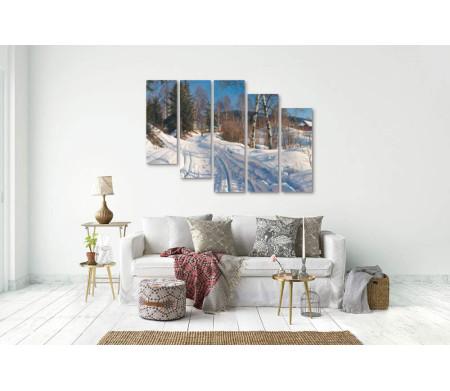 "Петер Морк Монстед ""Sunlit winter landscape"""