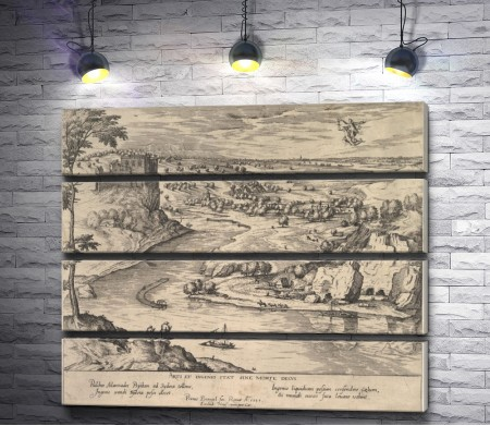 """Питер Брейгель """"River Landscape with Mercury and Psyche"""""""