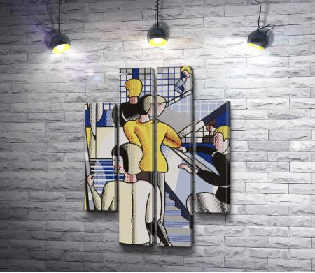 "Рой Лихтенштейн ""Bauhaus Stairway"""