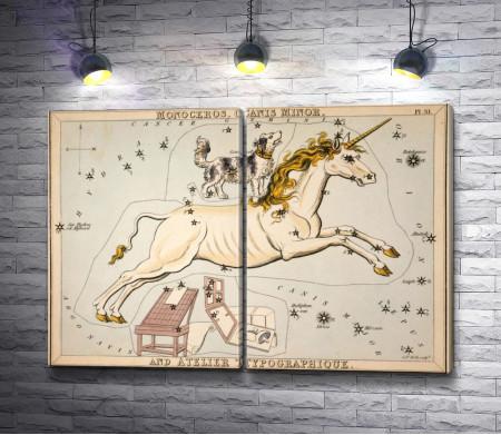 """Сидни Холл """"Зеркало Урании - Единорог, Малый Пёс и Типографский Станок"""""""