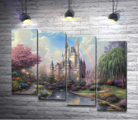 """Томас Кинкейд """"A new day at the Cinderella castle """""""