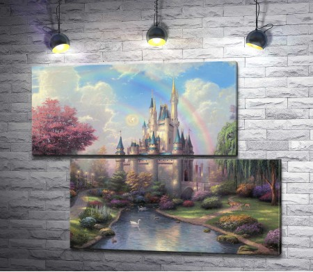 "Томас Кинкейд ""A new day at the Cinderella castle """