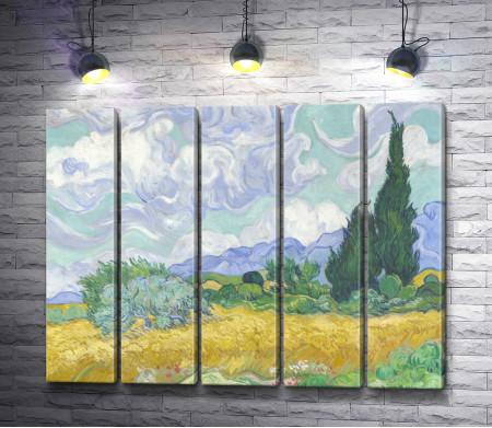 """Винсент Ван Гог """"Пшеничное поле и кипарис"""""""