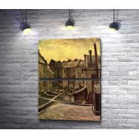 """Винсент ван Гог """"Задние дворы старых домов в заснеженном Антверпе"""""""