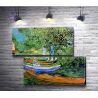 """Винсент Ван Гог """"Лодки у берега реки Уаз в Овере"""""""
