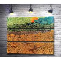 """Винсент Ван Гог """"Вечерний пейзаж с восходящей луной"""""""