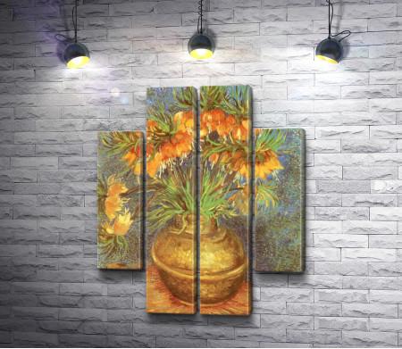 Винсент Ван Гог - Цветы в медном горшке