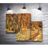 "Винсент Ван Гог ""The Large Plane Trees"" (Road Menders at Saint-Remy)"