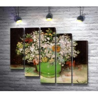 """Винсент Ван Гог """"Vase with zinnias and other flowers"""""""