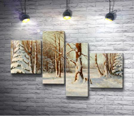 Вальтер Морас - Зимний пейзаж