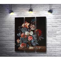 """Виллем Ван Алст """"Натюрморт с розами, тюльпанами и цветами"""""""