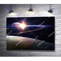 Восход солнца в Космосе