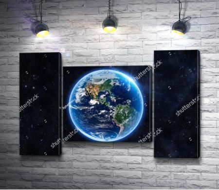 Вид на планету Земля из Космоса