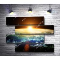 Восход Солнца над Землей