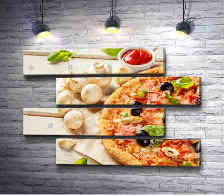 Аппетитная пицца с ингредиентами