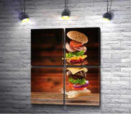 Высокий гамбургер