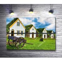 Сельские домики обросшие травой
