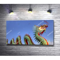 Китайский дракон зеленого цвета