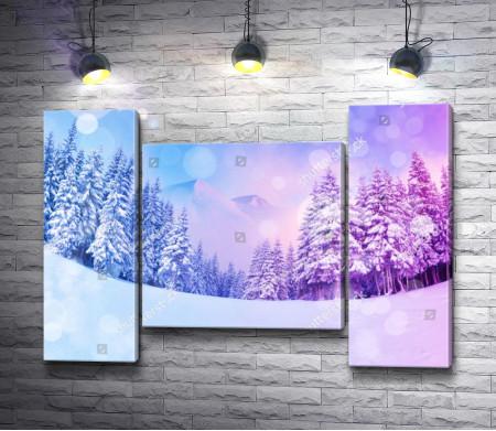 Снежный зимний лес