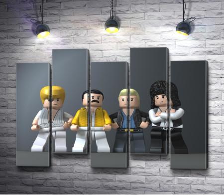 Фигурки лего участников группы Queen