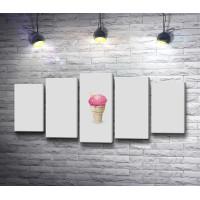 Мороженое мозг в стаканчике