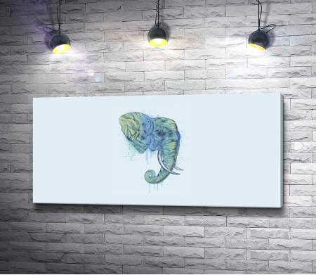 Голова слона, минимализм